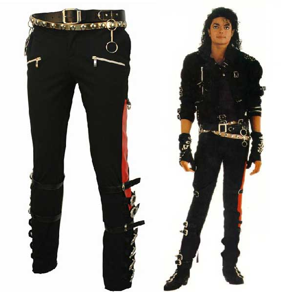 Michael Jackson BAD ''who's Bad''Tour Hose mit 3 Gürtels