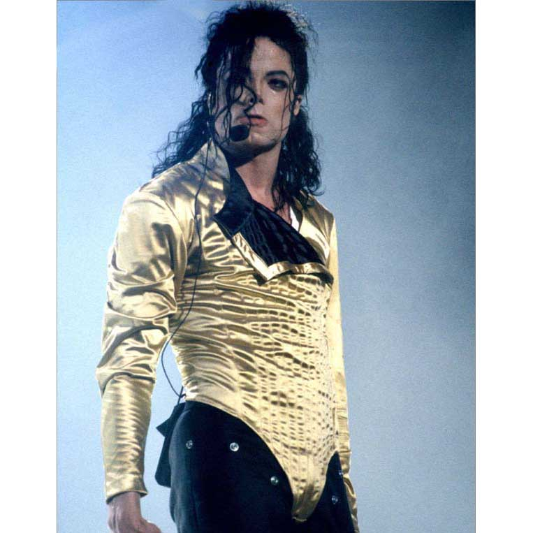 Michael Jackson BAD HISTORY Tour golden Jacke