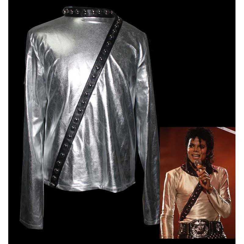 Michael Jackson 'BAD' Japan Tour Hautenge silbrig Jacke