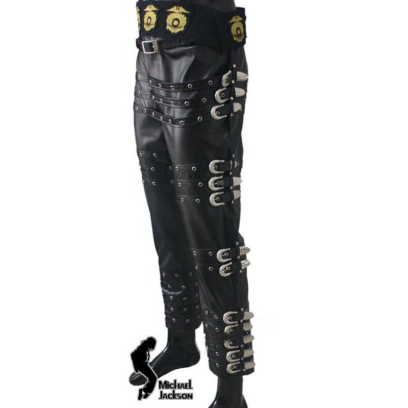 Michael Jackson BAD Tour Leder Hose