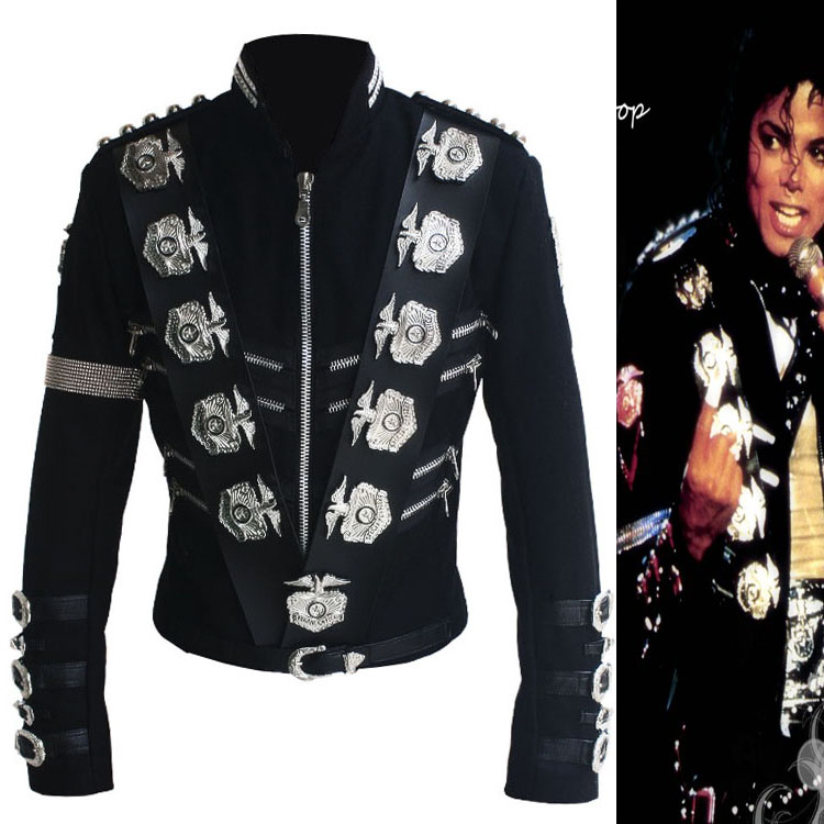 Michael Jackson BAD Tour Japan Live Jacke in Wollstoff