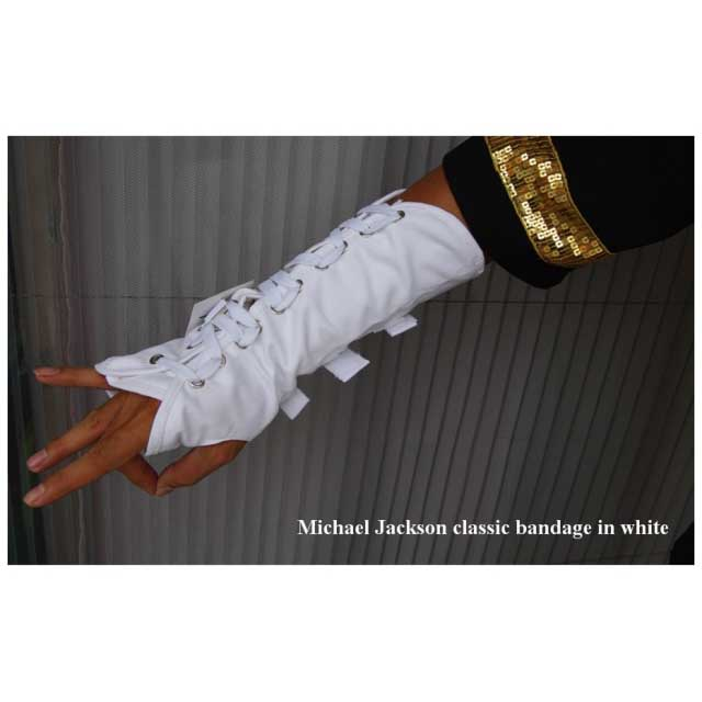 Michael Jackson Armband in weiss - Click Image to Close