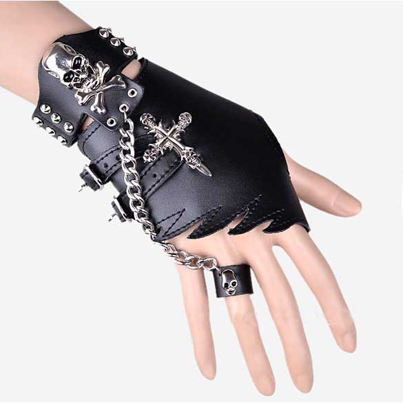 MJ Style Handschuh+ Armband+Ring